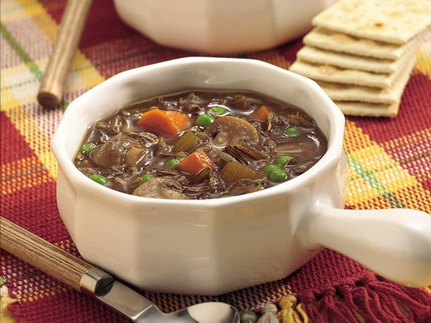 Slow Cooker Wild Rice and Mushroom Soup