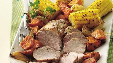 Roasted Pork Tenderloins and Vegetables