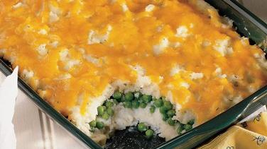 Cheesy Peas and Potato Casserole