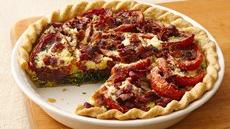 Balsamic Roasted Tomato-Spinach-Bacon Pie Recipe