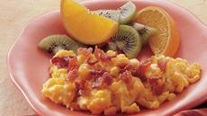 Corny Eggs with Bacon Recipe