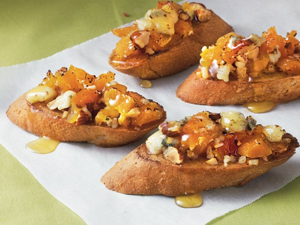 Apricot and Gorgonzola Bruschetta