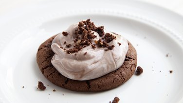 Double Chocolate Chip Cookies with Chocolate Mousse