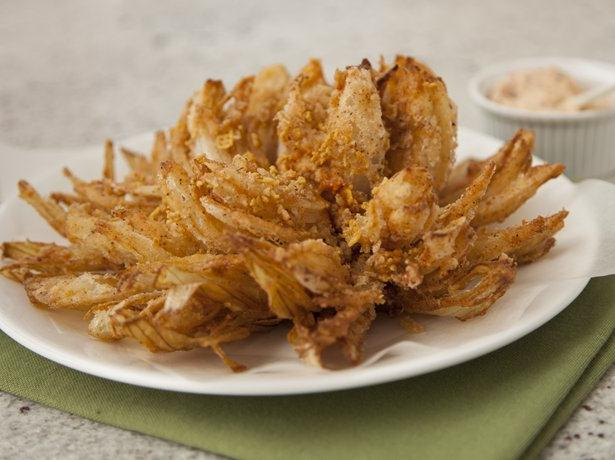 Gluten Free Chex® Blooming Onions with Bacon Chipotle Dip