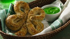Shamrock Soft Pretzels  Recipe