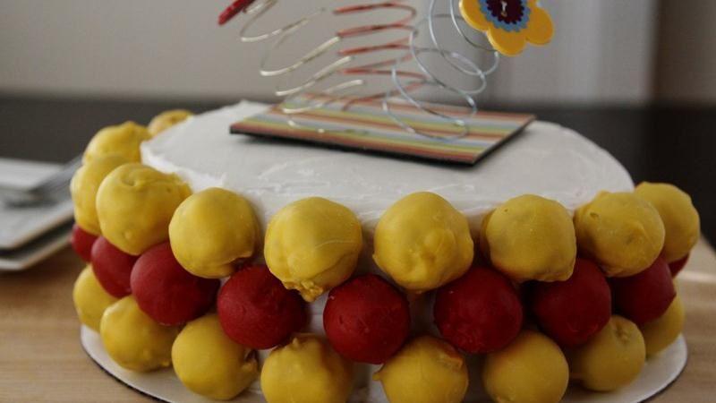 Celebration Cake Ball Cake
