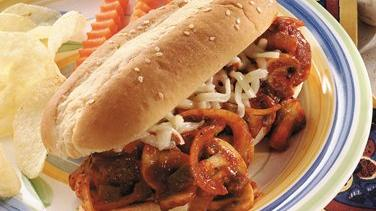 Quick Italian Meatball Sub Sandwiches (Cooking for 2)