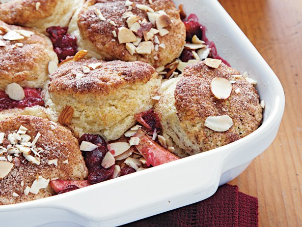 Cranberry Apple Biscuit Cobbler