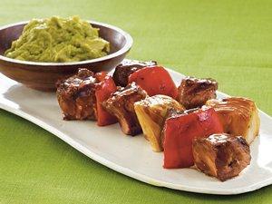 Steak Kabobs with Guacamole Dip