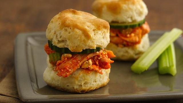 Buffalo Chicken Sliders (Cooking for Two)
