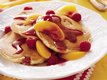 Peach Melba Pancakes