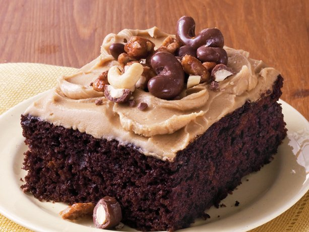 Chocolate Sheet Cake with Brown Sugar Frosting