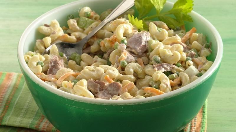 Tuna macaroni salad recipe from betty crocker for Macaroni salad with tuna fish
