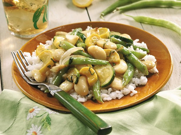 Summer Squash and Bean Saut