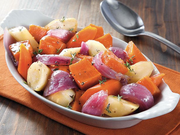 Slow Cooker Glazed Root Vegetables
