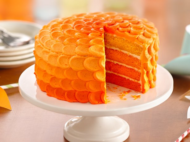 Tangerine Ombre Cake