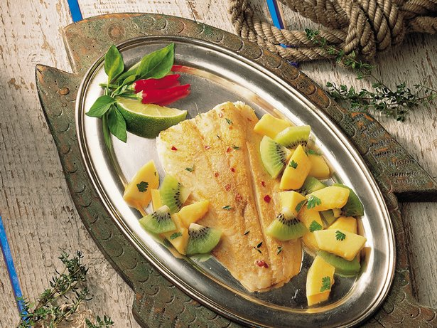 Spicy Fish with Tropical Salsa