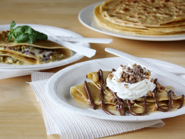 Sweet and Savory Food-Truck Crepes