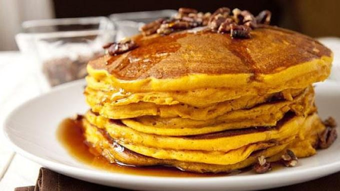 Pecan and Pumpkin Pie Pancakes recipe - from Tablespoon!