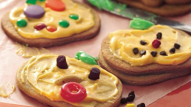 Chocolate Peanut Butter Jack-O-Lantern Cookies Recipes — Dishmaps