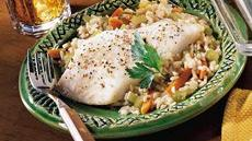 Skillet Fish and Vegetables Recipe