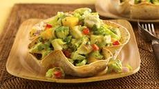 Mango-Jalapeño-Chicken Salad in Cumin Tortilla Bowls Recipe