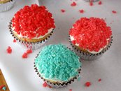 Popping Rock Candy Cupcakes