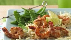 Grilled Marinated Shrimp with Orzo