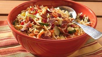 Bacon and Honey-Mustard Coleslaw