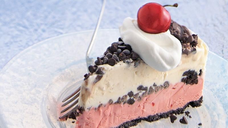 Chocolate-Cherry Ice-Cream Cake