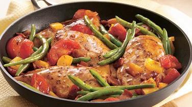 Easy Chicken and Garden Veggies