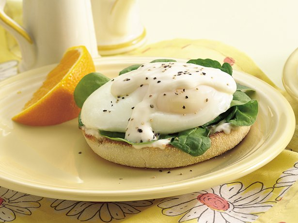 Florentine Eggs on English Muffins
