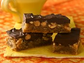 Chocolate-Topped Peanut-Toffee Bars