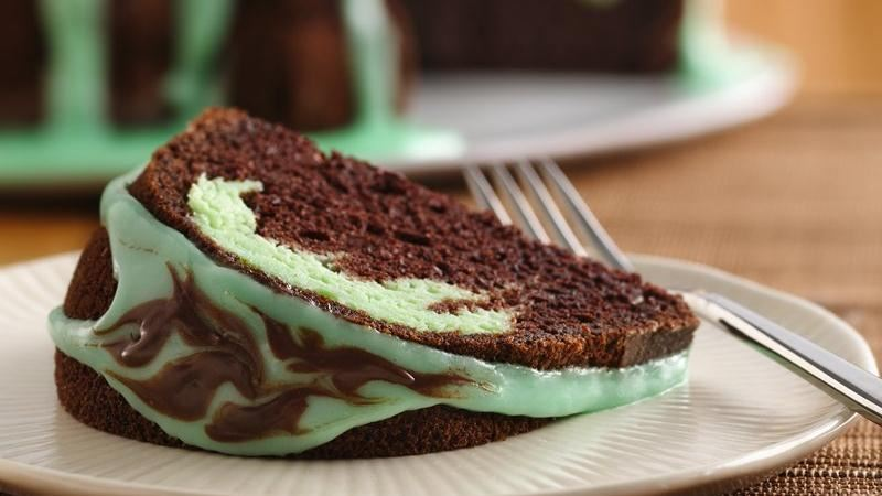 Chocolate-Mint Swirl Cake