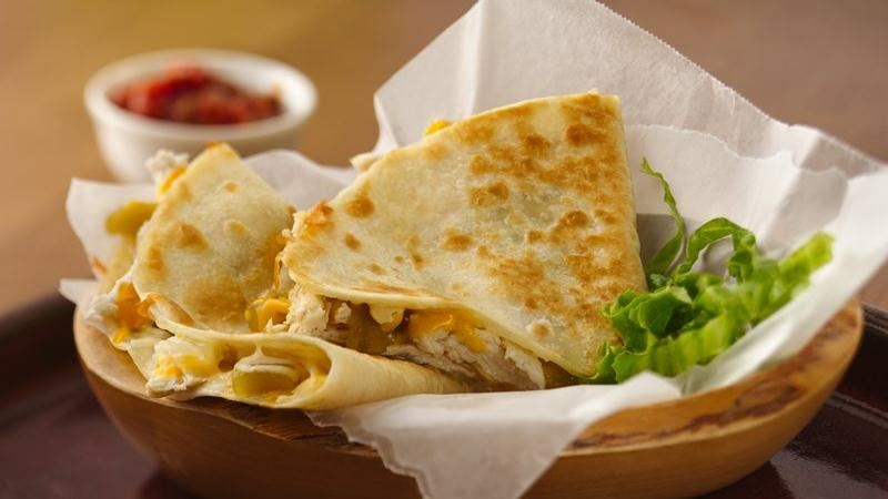 Chicken-Chile Quesadillas