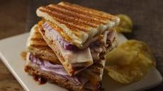 Barbecued Turkey and Cheese Panini  Recipe