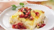 Cheesy Egg Bake with Strawberry Salsa Recipe