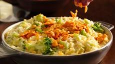 Creamy Cheese Broccoli Rice Bake Recipe