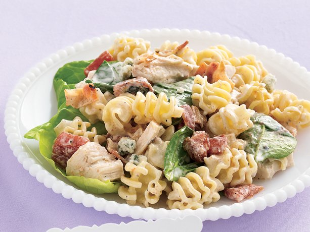 and Gorgonzola cheese add a flavorful punch to chicken pasta salad ...