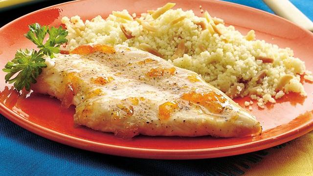 Image of Apricot-glazed Chicken Breasts With Almond Couscous, Pillsbury