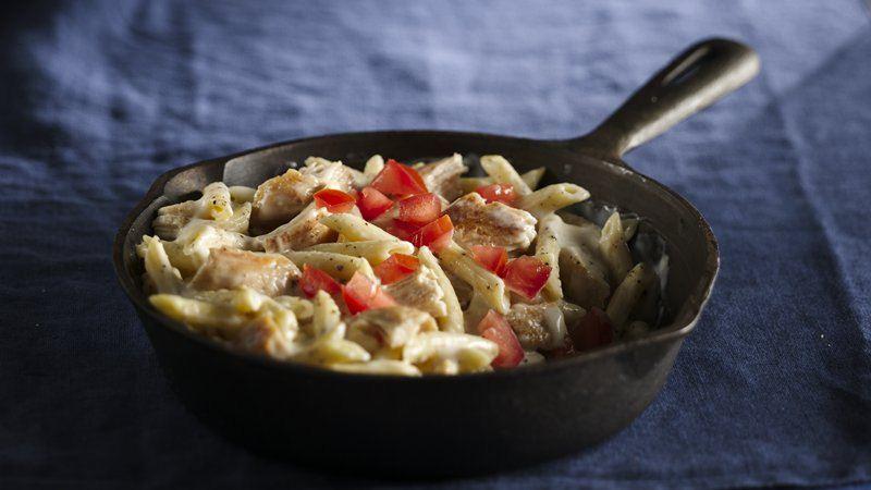 Quick Creamy Parmesan Chicken Penne