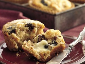 Plum Walnut Bran Muffins