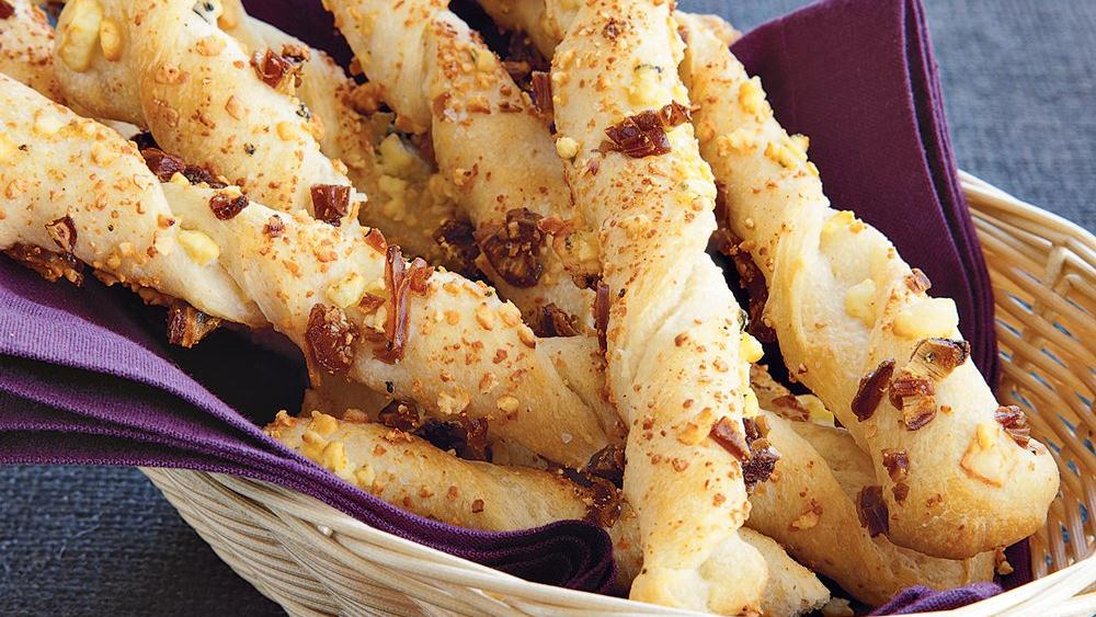 Date and Blue Cheese Bread Twists