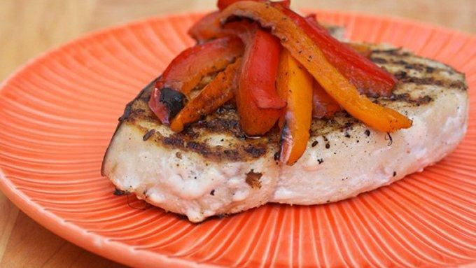 Grilled Swordfish with Peppers recipe - from Tablespoon!