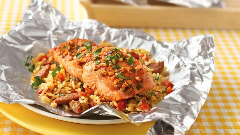 Salmon Paella Bake Recipes — Dishmaps