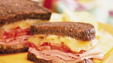 Toasted Ham and Gouda Sandwiches