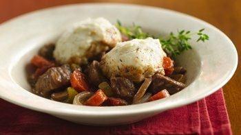 Slow-Cooker Burgundy Stew with Herb Dumplings