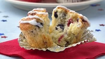 Red, White and Blueberry Muffins