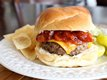 Steakhouse Cheddar Burger with Warm Bacon BBQ Sauce