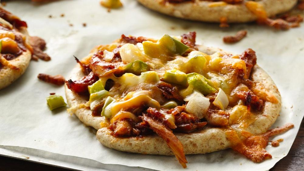Mini BBQ Chicken Pizzas